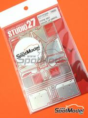 Studio27: Photo-etched parts 1/20 scale - Lotus Honda 99T - for Tamiya references TAM20057 and 20057