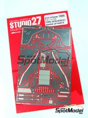 Studio27: Photo-etched parts 1/20 scale - Lotus Type 107 and 107B - for Tamiya references TAM20037 and TAM20038