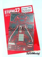 Studio27: Fotograbados escala 1/20 - Lotus Type 107 y 107B - para kits de Tamiya TAM20037 y TAM20038