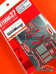 Studio27: Photo-etched parts 1/20 scale - Type 102B - for Tamiya reference TAM20030