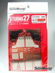 Studio27: Photo-etched parts 1/20 scale - McLaren Honda MP4/8 - for Tamiya reference TAM25172