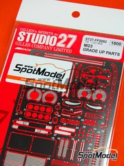 Studio27: Photo-etched parts 1/20 scale - McLaren M23 - for Tamiya reference TAM20062