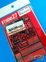 Studio27: Photo-etched parts 1/20 scale - Lotus Renault 97T - for Fujimi references FJ09064 and FJ090641