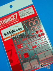 Studio27: Photo-etched parts 1/20 scale - Lotus Ford 72C - for Ebbro kit image