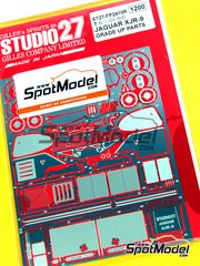 Studio27: Detail up set 1/24 scale - Jaguar XJR-9 - photo-etched parts and assembly instructions - for Tamiya reference TAM24084