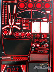 Studio27: Photo-etched parts 1/24 scale - Sauber Mercedes C9 - for Revell kit