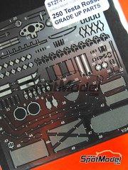 Studio27: Photo-etched parts 1/24 scale - Ferrari 250 Testa Rossa TR - for Hasegawa kits