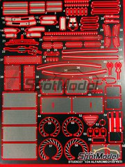 Studio27: Photo-etched parts 1/24 scale - Alfa Romeo 155 V6 TI - for Tamiya reference TAM24176