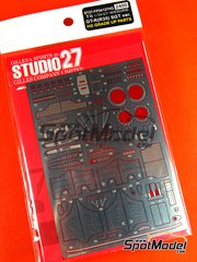 Studio27: Photo-etched parts 1/24 scale - Xanavi Nismo Carlsonic GT-R R35