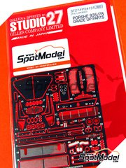 Studio27: Photo-etched parts 1/24 scale - Porsche 935 - for Tamiya reference TAM24311