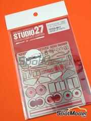 Studio27: Photo-etched parts 1/24 scale - Toyota 88C-V - for Tamiya reference TAM24079