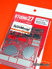 Studio27: Detail up set 1/24 scale - Mazda 787B - photo-etched parts and assembly instructions - for Tamiya references TAM24112, 24112, TAM24326 and 24326