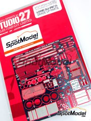 Studio27: Photo-etched parts 1/24 scale - Alfa Romeo GTA - for Tamiya reference TAM89677