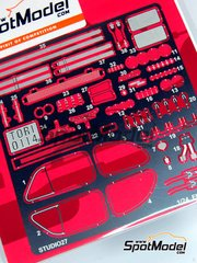 Studio27: Photo-etched parts 1/24 scale - Fiat 500F - for Tamiya references TAM89655 and 89655