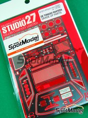 Studio27: Photo-etched parts 1/24 scale - De Tomaso Pantera - for Fujimi kit
