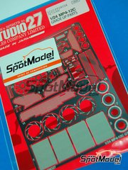 Studio27: Detail up set 1/24 scale - McLaren MP4-12C GT3 - photo-etched parts and assembly instructions - for Fujimi references FJ125558, 125558, RS-44, FJ125879, 125879 and RS-62
