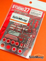 Studio27: Photo-etched parts 1/24 scale - BMW Z4 GT3 2012 - photo-etched parts and metal parts - for Fujimi kit