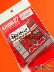 Studio27: Photo-etched parts 1/24 scale - Ferrari Testarossa - for Tamiya kit