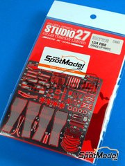 Studio27: Photo-etched parts 1/24 scale - RB Racing Renault RB8 - for Revell reference REV07074