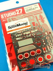Studio27: Photo-etched parts 1/24 scale - BMW Z4 GT3 2013 - photo-etchs and metal pieces - for Fujimi kits image