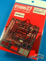 Studio27: Photo-etched parts 1/24 scale - Porsche 911 993 GT2 - for Tamiya references TAM24175 and TAM24247