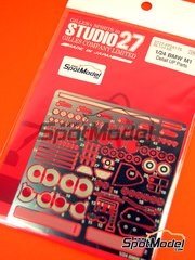 Studio27: Photo-etched parts 1/24 scale - BMW M1 Group 4 - for Revell reference REV07247