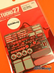 Studio27: Detail up set 1/24 scale - Mercedes-Benz 300SL - photo-etched parts and assembly instructions - for Tamiya kit TAM24338