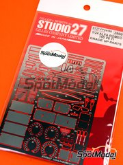 Studio27: Detail up set 1/24 scale - Alfa Romeo 155 V6 TI - photo-etched parts, seatbelt fabric, water slide decals and assembly instructions - for Tamiya references TAM24137, TAM24148, TAM96356 and TAM96357