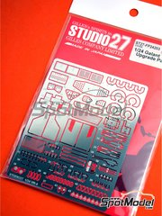 Studio27: Detail up set 1/24 scale - Mitsubishi Galant VR-4 - photo-etched parts, seatbelt fabric, white metal parts and assembly instructions - for Hasegawa reference 20288