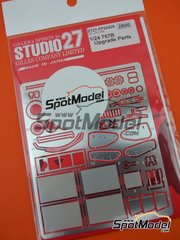 Studio27: Detail up set 1/24 scale - Mazda 767B - photo-etched parts and assembly instructions - for Hasegawa references 20312, 20325, 20359, CC-18, CC-20, SP60, 51560, SP88 and 51588