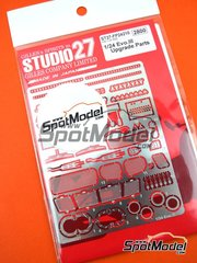 Studio27: Detail up set 1/24 scale - Mitsubishi Lancer Evo III - photo-etched parts and assembly instructions - for Hasegawa references 20365, 25020 and 25021