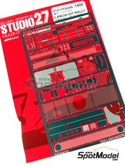 Studio27: Photo-etched parts 1/24 scale - Lancia 037 Rally - for Hasegawa kits 20264 and 25030