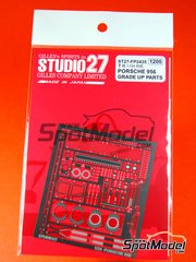Studio27: Photo-etched parts 1/24 scale - Porsche 956 - for Tamiya references TAM24309 and TAM24314