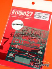 Studio27: Photo-etched parts 1/24 scale - Peugeot 206 WRC 2002 - for Tamiya kit TAM24267