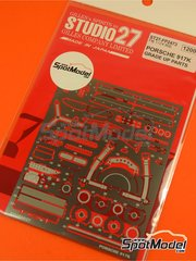 Studio27: Detail up set 1/24 scale - Porsche 917K  - photo-etched parts and assembly instructions - for Fujimi references FJ12173, 12173, HR-5, FJ12188, 12188, FJ12198, 12198, FJ12199, 12199, FJ12236, 12236, FJ12261, 12261, FJ123592, FJ123882, 123882, RS-84, FJ126074, 126074, FJ126135, 126135, 12613, RS-4, FJ126142, 126142, 12614, RS-88, FJ126159, 126159, 12615, RS-92, FJ126166, 126166, 12616 and RS-98