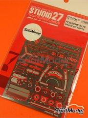 Studio27: Detail up set 1/24 scale - Porsche 917K - photo-etched parts and assembly instructions - for Fujimi references FJ12173, FJ12188, FJ12198, FJ12199, FJ12236, FJ12261, FJ123592, FJ123882, FJ126074, FJ126135, FJ126142, FJ126159 and FJ126166 image