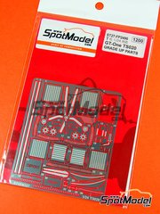Studio27: Photo-etched parts 1/24 scale - Toyota TS020 GT-One - for Tamiya reference TAM24222