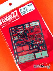 Studio27: Photo-etched parts 1/24 scale - Nissan R390 GT1