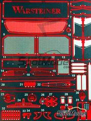 Studio27: Photo-etched parts 1/24 scale - Mercedes CLK-GTR Warsteiner