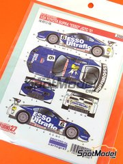 Studio27: Decals 1/24 scale - Toyota Supra GT Esso Ultraflo #6 - Japanese Grand Touring Championship - JGTC 2001 - for Tamiya reference TAM24163