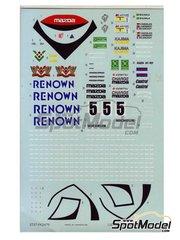 Studio27: Marking / livery 1/24 scale - Mazda MXR01 RENOWN #5 1992 - resin multimaterial kit
