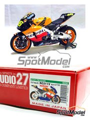 Studio27: Transkit 1/12 scale - Honda RC211V Repsol #46, 69 - Valentino Rossi (IT), Nicky Hayden (US) - Japan Grand Prix 2003 - for Tamiya kit TAM14092
