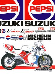 Studio27: Transkit 1/12 scale - Suzuki RGV-G XR-89 Pepsi #5 - Kevin Schwantz (US) 1988 - resins, decals, photo-etch and metal parts - for Tamiya reference TAM14081