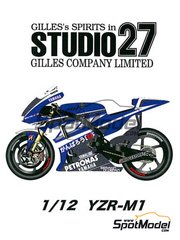 Studio27: Transkit 1/12 scale - Yamaha YZR-M1 Petronas #1, 11 2011 - for Tamiya kits TAM12117, TAM12119 and TAM12120