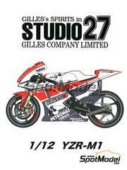 Studio27: Transkit 1/12 scale - Yamaha YZR-M1 50th Anniversary Petronas - for Tamiya kits TAM12117, TAM12119 and TAM12120