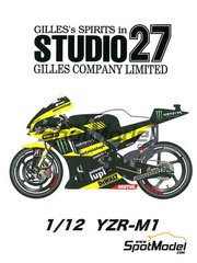 Studio27: Transkit 1/12 scale - Yamaha YZR-M1 Monster Yamaha Tech - for Tamiya kits TAM12117, TAM12119 and TAM12120