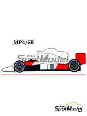 Studio27: Transkit 1/20 scale - McLaren Honda MP4/5B Marlboro Shell #27, 28 - Alain Prost (FR), Ayrton Senna (BR) - Japan Grand Prix 1990 - metal and resin parts - for Tamiya kit