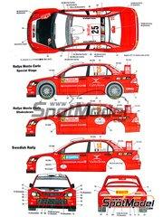 Studio27: Transkit 1/24 scale - Mitsubishi Lancer WRC Ralli Art #25 - Montecarlo Rally 2006 - resins, metal parts and decals