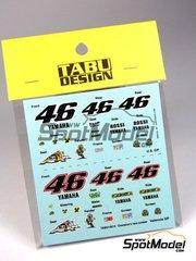 Tabu Design: Decals 1/12 scale - Yamaha YZR M1