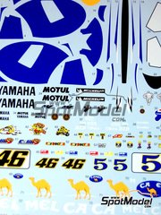 Tabu Design: Decals 1/12 scale - Yamaha YZR-M1 Camel #46 - Valentino Rossi (IT) - World Championship 2006 - for Tamiya kits